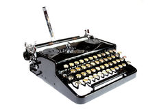 Old typewriter isolated Stock Images