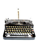 Old typewriter isolated Royalty Free Stock Photography