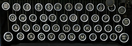 Old typewriter keyboard Royalty Free Stock Image