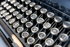 Old typewriter keyboard Stock Photography