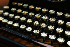 Old typewriter keyboard Stock Images