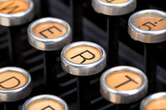 Old typewriter keyboard Royalty Free Stock Images