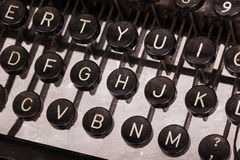 Old typewriter keyboard. Vintage image, noise and scratches Royalty Free Stock Photos