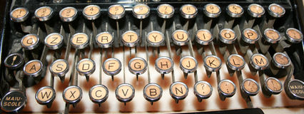 Old typewriter keys Stock Photos