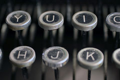 Old typewriter keys. To type letters Royalty Free Stock Image