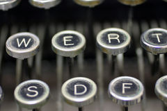 Old typewriter keys. To type letters royalty free stock photo