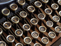 Old typewriter keys Stock Image