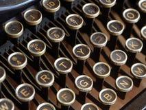 Old typewriter keys. Dusty keys from an antique typewriter Stock Image