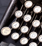 Old typewriter keys Stock Photography