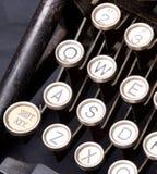 Old typewriter keys. Metal keys on a vintage typewriter Stock Photography