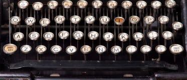 Old typewriter keys. Row of keys on an old typewriter Stock Images