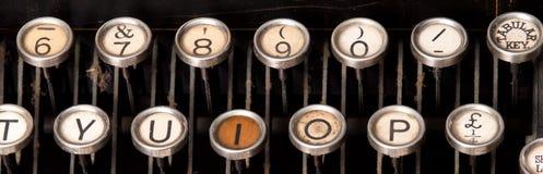 Old typewriter keys. Two rows of old typewriter keys Royalty Free Stock Images
