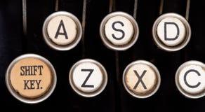 Old typewriter keys Stock Images