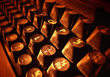 Old typewriter keys Royalty Free Stock Image