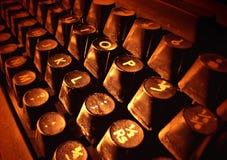 Old typewriter keys. Detail view of antique typewriter keys Royalty Free Stock Image