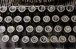 Old Typewriter Keys. Old and dusty typewriter keys Stock Images