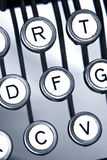 Old typewriter keytops Royalty Free Stock Photography