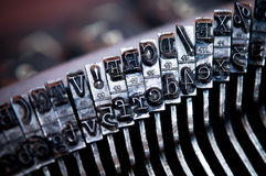 Old typewriter letter Royalty Free Stock Image