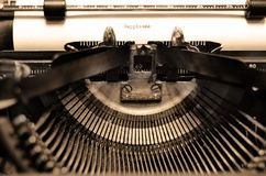 Old Typewriter Letters Typing Royalty Free Stock Photography