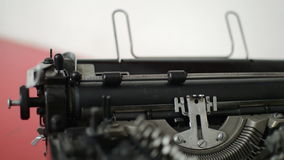Old typewriter machine. Detail how work stock footage