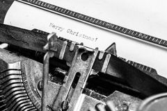 Old typewriter - Merry Christmas Royalty Free Stock Photo