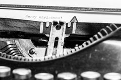 Old typewriter - Merry Christmas Royalty Free Stock Images