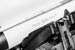 Old typewriter - Merry Christmas Royalty Free Stock Photography