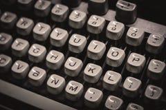 Old typewriter. Monochrome stock photo royalty free stock photo