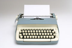 Old Typewriter with Paper Royalty Free Stock Images