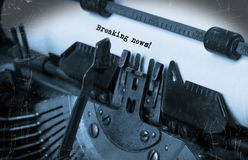 Old typewriter with paper Royalty Free Stock Photos