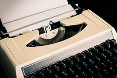 Old typewriter with paper Stock Image