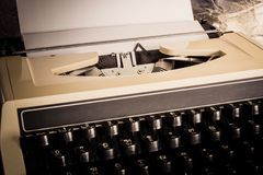 Old typewriter with paper Royalty Free Stock Image