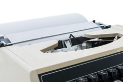 Old typewriter with paper Royalty Free Stock Photo