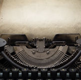Old typewriter. Old retro typewriter with paper Royalty Free Stock Photography