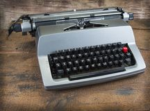 Old typewriter from seventies with paper and copy space.  Royalty Free Stock Images