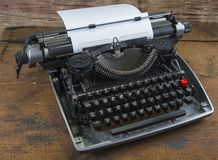 Old typewriter from seventies with paper and copy space.  Stock Image