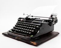 Old typewriter with a sheet of paper Stock Images