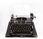 Old typewriter with a sheet of paper Stock Photography