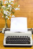 Old typewriter and  sheet of paper Royalty Free Stock Photos