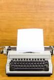 Old typewriter and  sheet of paper Royalty Free Stock Photo