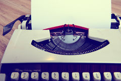 Old typewriter with sheet of paper Stock Image
