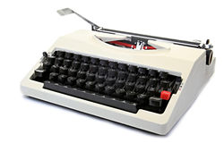 Old  typewriter  sitting on a table Royalty Free Stock Image