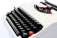 Old  typewriter  sitting on a table Royalty Free Stock Images