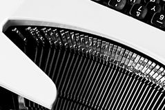Old  typewriter  sitting on a table Royalty Free Stock Photos