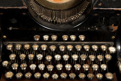 Old typewriter with some Slavic words on it Stock Photography