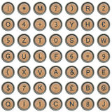 Old typewriter symbols (alphabet) Stock Photo