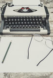 Old typewriter. On the table Royalty Free Stock Photography