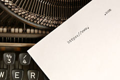 Old typewriter with text http Royalty Free Stock Photo