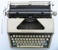 Old Typewriter - Top View royalty free stock photos