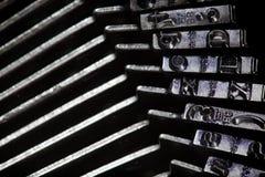 Old typewriter type bars Stock Image